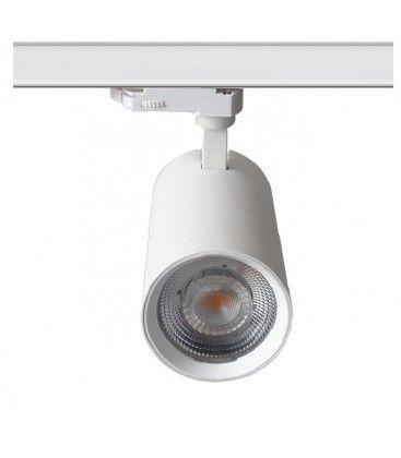 LEDlife hvid skinnespot 28W - Flicker free, Citizen LED, RA90, 3-faset