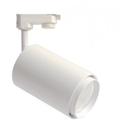 Skinnespots LED Restsalg: LEDlife hvid skinnespot 25W - Flicker free, 110lm/w, RA80, 3-faset, intern driver