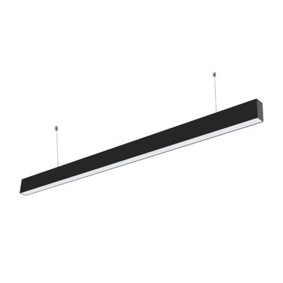 V-Tac 40W LED nedhængt loftarmatur - 120cm, 230V, inkl. lyskilde, UGR 19, justerbar kulør - Dæmpbar : Ikke dæmpbar, Kulør : 3-i-1, Farve på hus : Sort