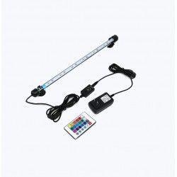 Lamper Akvarie armatur RGB 62cm - 7W LED, med sugekopper, IP68