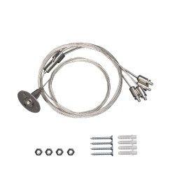 LED Paneler Wire sæt til LED panel - 200cm + 80cm, justerbar højde, 4-delt