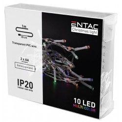 BLACK FRIDAY + CYBER MONDAY 1 meter indendørs LED julelyskæde - Batteri, 10 LED, multicolor