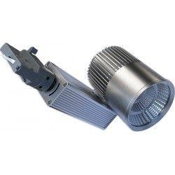 Skinnespots LED LEDlife grå skinnespot 30W - Philips COB, Flicker free, RA90, 3-faset