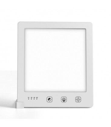 LED lysterapi lampe med timer - 10W, hvid, 10.000 LUX, USB