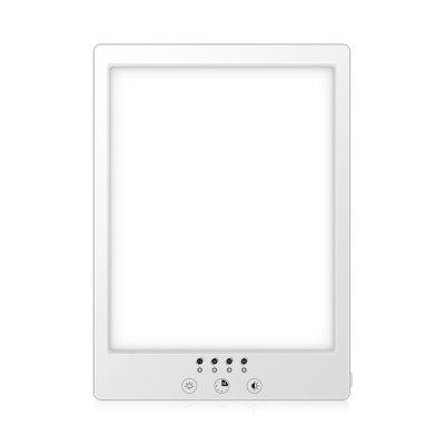 LED lysterapi lampe med timer - 14W, hvid, 12.000 LUX