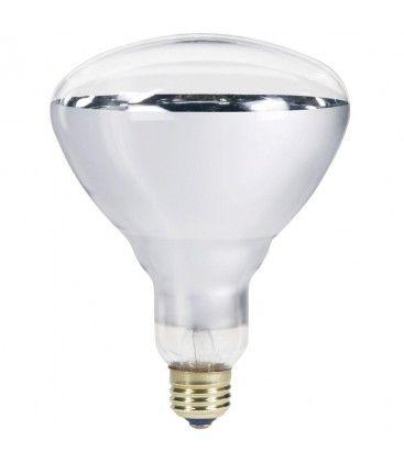 Klar E27 250W infrarød glødetrådpære - Varmepære, R125