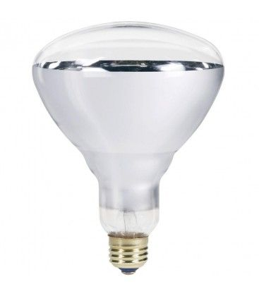 Klar E27 150W infrarød glødetrådpære - Varmepære, R125