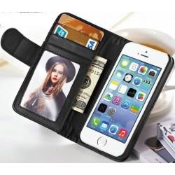 iphone4.cover.card: Iphone 4 etui med kreditkort holder. Sort eller hvid.