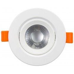 Indbygningsspot 7W LED indbygningsspot - Hul: Ø7,5 cm, Mål: Ø9 cm, indbygget driver, 230V