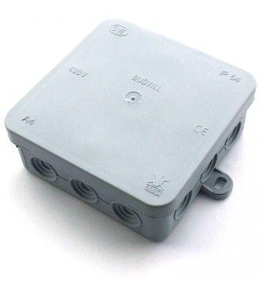 Samleboks - 10 x 10 x 3,7 cm, IP54 stænktæt