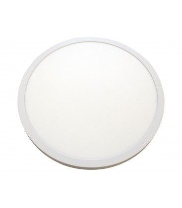 40W LED rundt panel - Ø60, Højde: 4cm, hvid kant, inkl. lyskilde