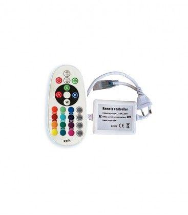 8x16 RGB controller til Neon Flex LED - Inkl. endeprop, radiostyret, IP67, 230V
