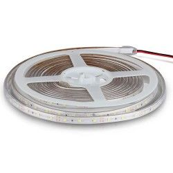 12V V-Tac 3,6W/m LED strip - 5m, 60 LED pr. meter, Farvet lys