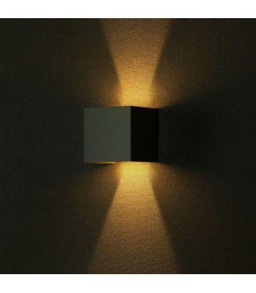 V-Tac 12W LED grå væglampe - Firkantet, justerbar spredning, IP65 udendørs, 230V, inkl. lyskilde