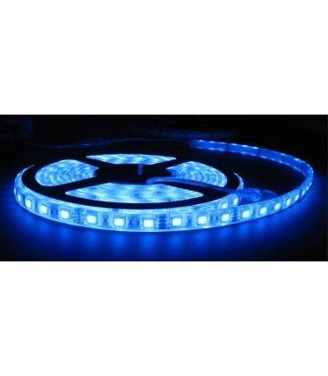 5m LED strip vandtæt, BLÅ, 30 LED, 7,5w pr. meter!