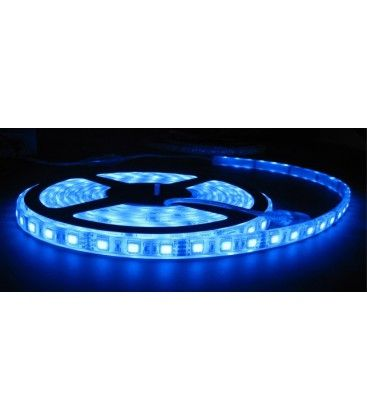 Blå stænktæt LED strip - 5m, 30 LED pr. meter
