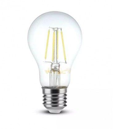 V-Tac 8W LED pære - Kultråd, varm hvid, E27