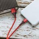 V-Tac USB-C til USB-A kabel - 1 meter, flettet kabel, rød