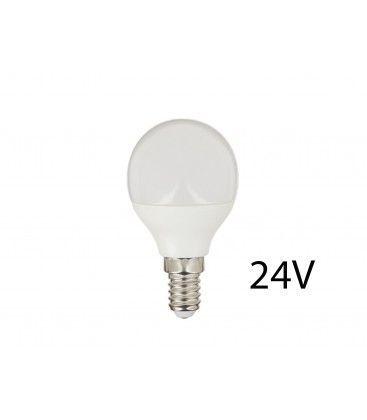 4W LED pære - P45, E14, 24V