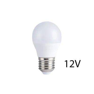 4W LED pære - G45, E27, 12V - Dæmpbar : Ikke dæmpbar, Kulør : Varm