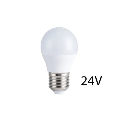 4W LED pære - G45, E27, 24V - Dæmpbar : Ikke dæmpbar, Kulør : Varm
