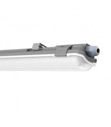 V-Tac 60 cm vandtæt armatur med rør - Inkl. 1 stk. 10W LED rør, IP65, 230V