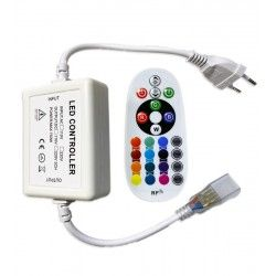 230V RGB RGB kontroller med fjernbetjening - Inkl. endeprop, 230V, memory funktion, Radiostyret