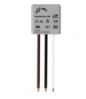 EasyDimmer500 - 250W LED dæmper, kip-tryk/push dæmp, korrespondance, til indbygning