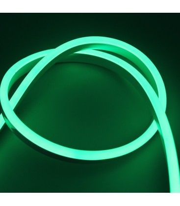 8x16 Neon Flex LED - 8W pr. meter, grøn, IP67, 230V