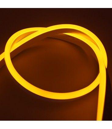 8x16 Neon Flex LED - 8W pr. meter, gul, IP67, 230V