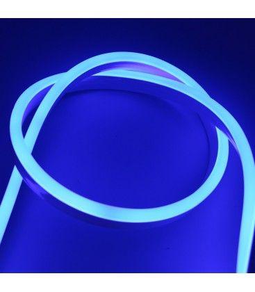 Blå 8x16 Neon Flex LED - 8W pr. meter, IP67, 230V