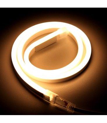 8x16 Neon Flex LED - 8W pr. meter, varm hvid, IP67, 230V
