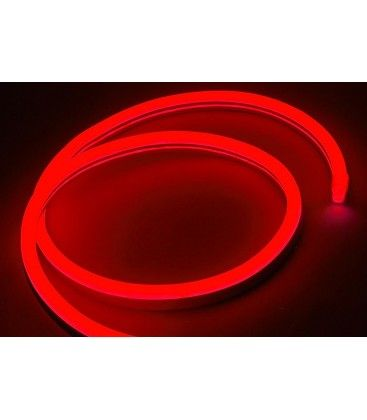 8x16 Neon Flex LED - 8W pr. meter, rød, IP67, 230V