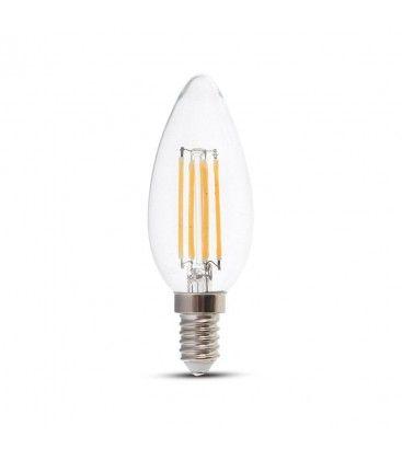 V-Tac 6W LED kertepære - Kultråd, E14