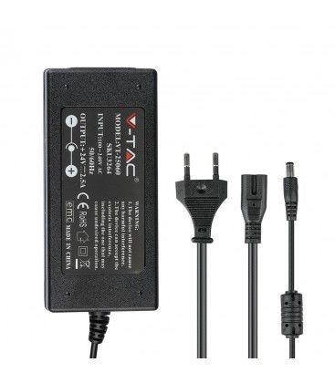 V-Tac 60W strømforsyning til LED strips - 24V DC, 2,5A, IP44 vådrum