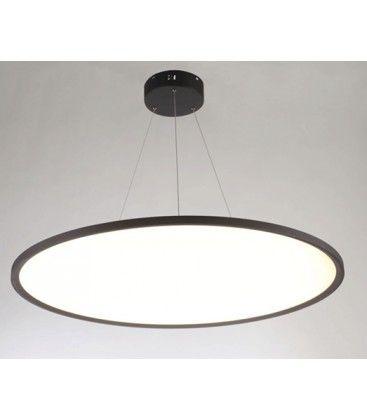 LEDlife 40W LED rundt panel - 100 lm/W, Ø60, sort, inkl. wireophæng