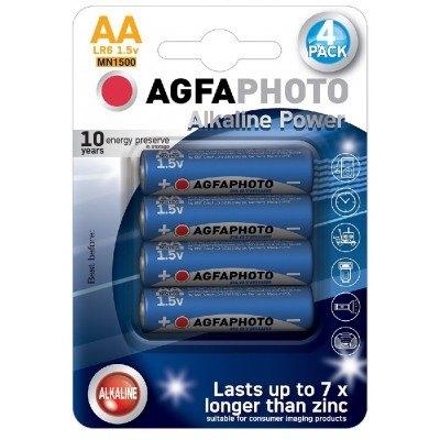 AA 4-pak AgfaPhoto batteri - Alkaline, 1,5V