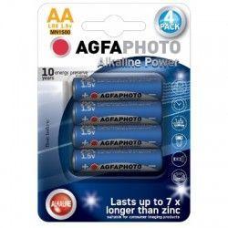 Batterier 4 stk AgfaPhoto Alkaline batteri - AA, 1,5V