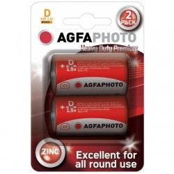 Batterier 2 stk AgfaPhoto Alkaline batteri - D/MN1300, 1,5V