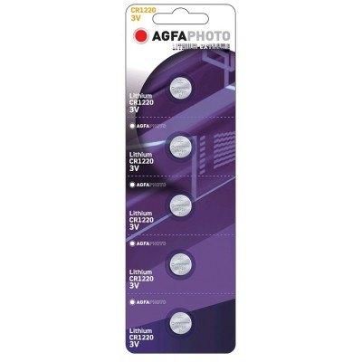 CR1220 5-pak AgfaPhoto knapcellebatteri - Lithium, 3V