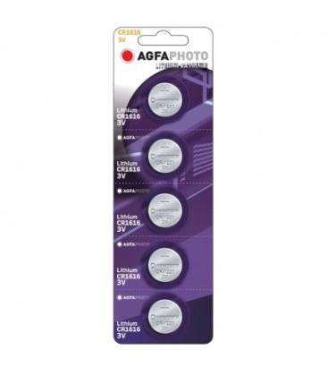 CR1616 5-pak AgfaPhoto knapcellebatteri - Lithium, 3V