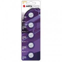 Batterier 5 stk AgfaPhoto Lithium knapcellebatteri - CR1620, 3V