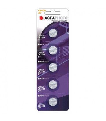 CR1620 5-pak AgfaPhoto knapcellebatteri - Lithium, 3V