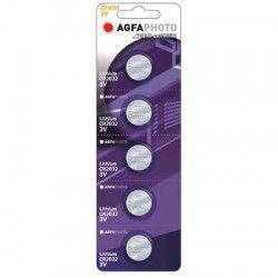 Batterier 5 stk AgfaPhoto Lithium knapcellebatteri - CR2032, 3V
