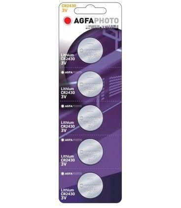 CR2430 5-pak AgfaPhoto knapcellebatteri - Lithium, 3V