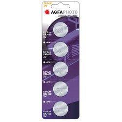 Batterier 5 stk AgfaPhoto Lithium knapcellebatteri - CR2450, 3V