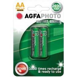 Batterier 2 stk AgfaPhoto genopladeligt batteri - AA, 1,5V