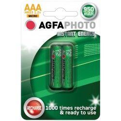 Batterier 2 stk AgfaPhoto genopladeligt batteri - AAA, 1,5V