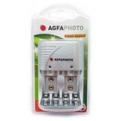 Batterier 1 stk AgfaPhoto oplader  - til genopladeligt batteri