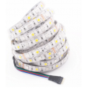 12W/m RGB+WW LED strip - 5 meter, IP20, 60 LED pr. meter, 24V